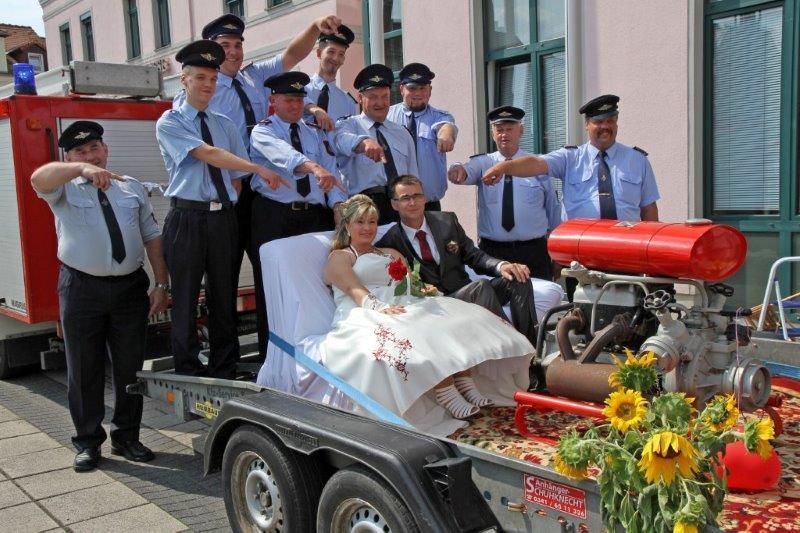 Grosssteinberger Feuerwehr Hochzeit Freiwillige Feuerwehr Klinga