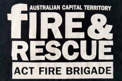 Australien-Capital-Territory-Fire-Brigade_ACT-Australien_Rueckendruck-T-Shirt