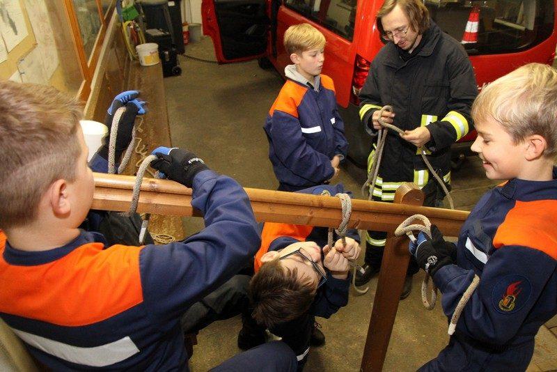 Training im Gerätehaus