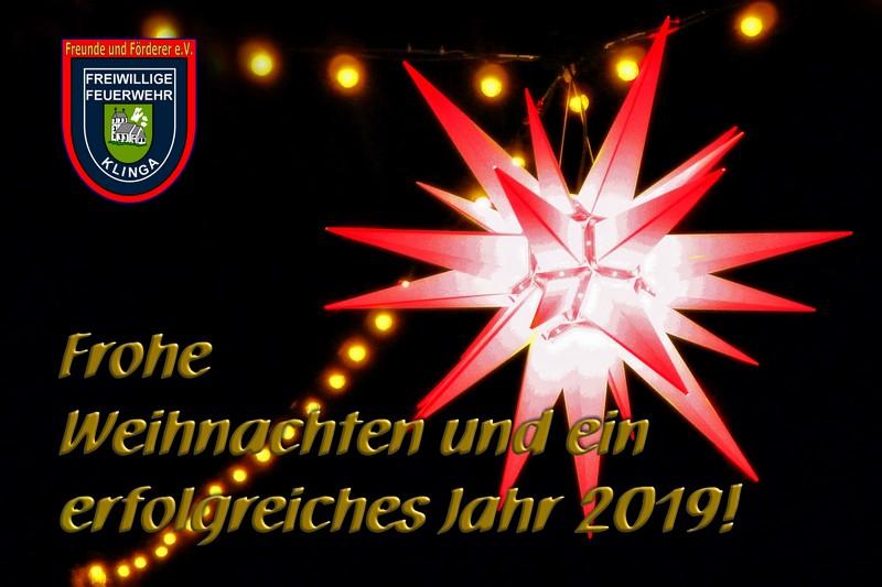 Weihnachtswünsche Mit Dankeschön.Weihnachten Freiwillige Feuerwehr Klinga